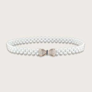 🎀 Lovely Rhinestone Ribbon Bow Faux Pearl 🎀